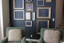 Chalkboard Walls / Paint an accent wall in your home or office using chalkboard paint to create an eye-catching point of interest.  This board is filled with ideas. Don't forget to use your dustless Fun Chalk Markers.