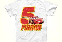 Cars Birthday Party Shirt Lightning McQueen