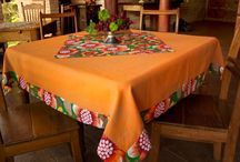 Toalhas de mesa.