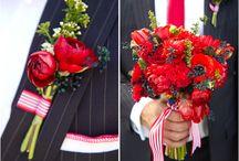 Wedding red flowers