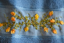 Embroidery towels and handmade tea towels