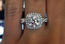 Wedding rings halo