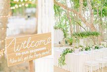Wedding Reception / Pretty wedding reception decor, lighting and set-up.