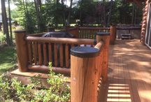 Quality Metal Log Post Caps and Covers / Luxury Metals manufactures quality round copper, metal and powder coated log post caps to protect exposed log ends from weather damage and rot. These caps add nice looking accents and practical protection for your exposed log ends.