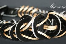 Galaxy Collection by Mojiana / Outstanding leather jewellery by Mojiana. It's truly a piece of art