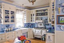 ♥ Blue & White Kitchen  ♥