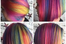 Pop of Color Hair