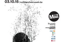 Nuit Blanche Brussels 2015 / Our communication campaign is launched! Discover our 6 posters all around the city...  Graphic Design: Oilinwater