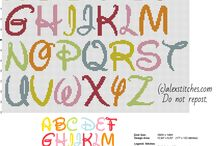 Free cross stitch patterns alphabet / Free cross stitch patterns alphabet