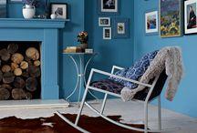 perete albastru