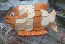 El Yapımı balık çanta