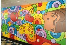 Elementary school murals