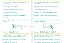 Tucson Doulas Affirmations / Affirmations to align the mind and body for a more positive pregnancy and birth experience.