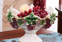 Amour Ceramic fruit dish