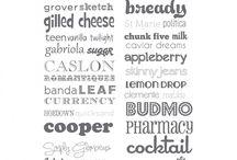 Fonts / fonts, fonts and more fonts