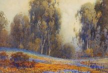 Art Board: Landscape Paintings and Drawings / Assorted paintings, drawings and mixed media of landscapes