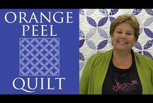 Quilt blocks-Cathedral Windows/Orange Peel