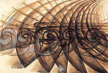 Giacomo Balla (1871-1958) / Ce peintre à appartenu au mouvement d'origine Italienne apparu en 1909, le futurisme. Ce courant s'inspire du modernisme des villes, de l'industrie et de la vitesse en décomposant les mouvements.