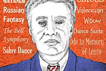 Khachaturian / One of the 'three titans of Soviet music' - with Shostakovich and Prokofiev.  Khachaturian (1903 - 1978) was an Armenian composer best known for the 'Sabre Dance' from the ballet Gayaneh and for the theme tune of the 1970s TV series 'The Onedin Line' which was taken from the ballet 'Spartacus'