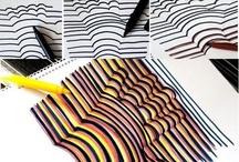 arte e immagine / disegno con colori a tempera, squarcio con vista sull'universo