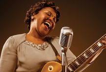 """Marie and Rosetta / Get your front-row seat to music history in the making. """"The Godmother of Rock n' Roll"""" and 2018 Rock and Roll Hall of Fame nominee Sister Rosetta Tharpe — who influenced performers from Elvis to Hendrix — plucks prim-and-proper Marie Knight from a rival gospel show. The two challenge one another on music, life, and The Almighty. This story of letting loose, finding your voice, and freeing your soul is a soaring music-theatre experience chock full of roof-raising performances."""