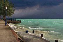 Vihar a Balatonnál / Storm at Lake Balaton