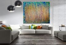 2017 Abstract Paintings / Statement Art pieces completed 2017! bold and vibrant artwork on sale now. www.NestorToro.com