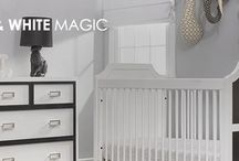Black + White Magic / Go bold with a neutral nursery that's all about a black and white theme