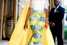 African Print Wedding Fashion / African Print fashion in weddings