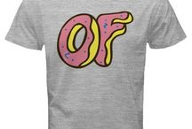 Odd Future OF Dougnut Grey T-Shirt man and women