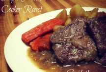 Roast meat dishes