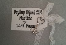 Our wedding - June 20th 2015 / Pins from our wedding! |  Maritne & Lars Magne |  #EventyrbryllupMogLM