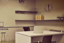 office 'sticky birds' / workspaces,offices concept: ''sticky birds''