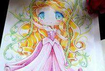 Disney Chibi art