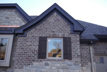 Hardie Board & Batten Cobblestone In Ladue, Missouri / This is a new construction house that features James Hardie Fiber Cement Siding in Cobblestone. It is Board & Batten and is sometimes called vertical siding.