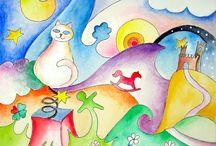 disegni e illustrazioni / disegni ad aquerello e china e illustrazioni per l'editoria