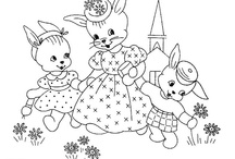 Redwork Conejos