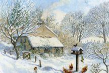 Иллюстрации: зимние,  новогодние