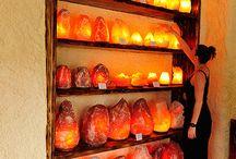 Соляные пещеры и лампы