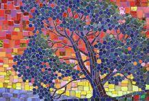 Parede de mosaicos Árvore