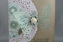 Doily and butterfly card