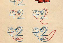 písmena a čísla jako věci