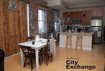 City Exchange / The Flats at City Exchange are converted flats & lofts in downtown Harrisonburg, Va. They feature bamboo floors, stainless steel appliances, Italian stairs washer and dryer, internet, surround sound wiring and controlled access. Contact Info@MatchboxRealty for more information!