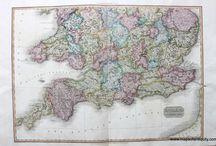 Antique Maps of England