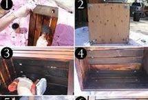cómo hacer una mesa ratona con cajones