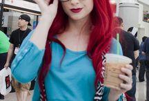 red hair :D