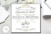 'Ready to Send' Wedding Stationery / This is my 'Ready to Send' Wedding Stationery Designs. Perfect for that bride who is on the run. Just order online at my etsy shop below or www.rbhdesignerconcepts.com