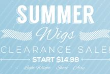 SUMMER WIGS clearance-synthetic-wigs / http://www.uniwigs.com/tag/clearance-synthetic-wigs / by Uniwigs