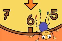 Rekenen, leerdoel meten : tijd en chronologie / Rekeninhoud bij het leerdoel Meten, tijd * dagritme en jaarritme * gebeurtenissen in tijdsvolgorde plaatsen * begrippen: dagen van de week, delen van de dag, lang en    kort, snel en langzaam * functie van de klok * tijdmeten met informele tijdsmeters * redeneren over eenvoudige situaties rond tijd.