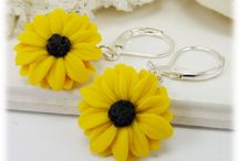 Black Eyed Susan Jewelry / Hand Sculpted Black Eyed Susan Flower Jewelry collection.
